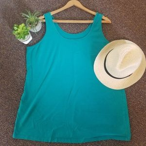 Maurices Teal Plus size 2X layering tank top